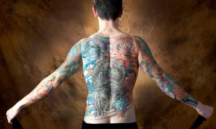 Arm Japanese Back Tattoo by Balinese Tattoo