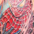 Shoulder Fantasy Spiderman tattoo by Balinese Tattoo