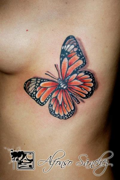 Butterfly Finger Tattoo Designs