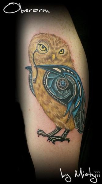 Arm Fantasy Owl Tattoo by Heaven Of Colours