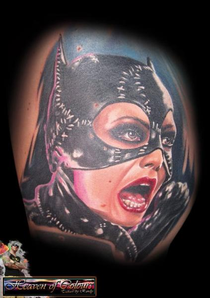 Fantasy Catwoman Tattoo by Heaven Of Colours