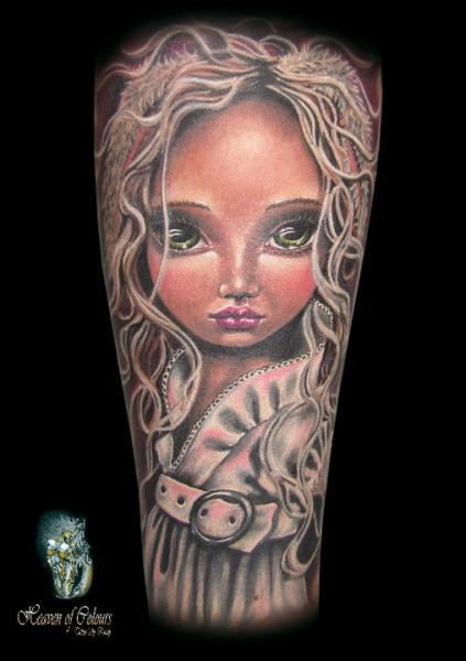 Fantasy Children Character Tattoo by Heaven Of Colours