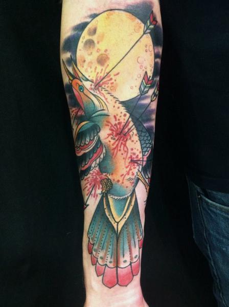 Arm Phoenix Tattoo von JH Tattoo