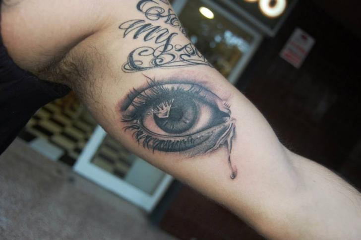 Arm Realistic Eye Tattoo by JH Tattoo
