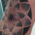tatuaje Brazo Dotwork por La Mano Zurda