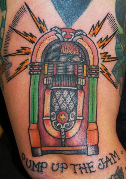 New School Jukebox Tattoo by Stademonia Tattoo