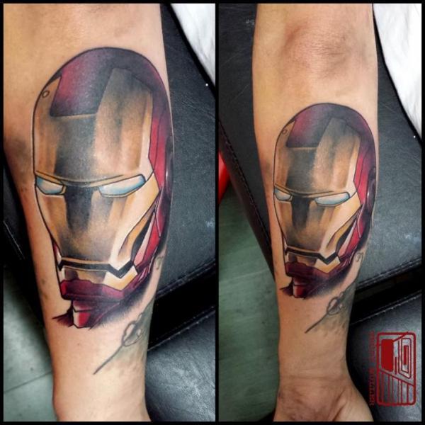 Arm Fantasy Ironman Tattoo by Tattoo Blue Cat