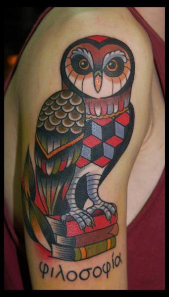 Old School Tattoo Owl Sfb