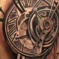 Realistic Clock tattoo by V Tattoos