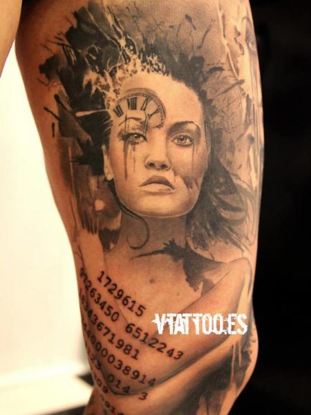 Frauen Tattoo von V Tattoos