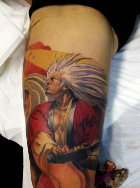 Arm Fantasie Samurai Tattoo von Wanted Tattoo