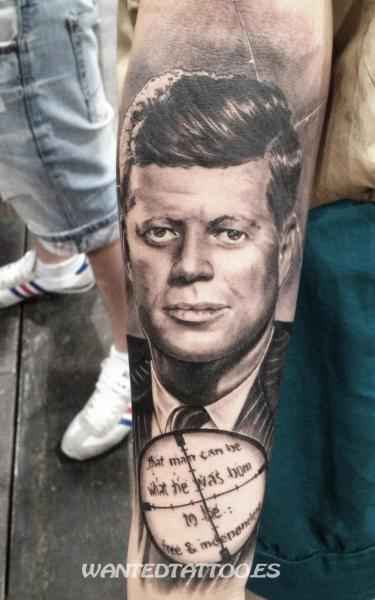 Portrait Realistic Kennedy Tattoo by Wanted Tattoo