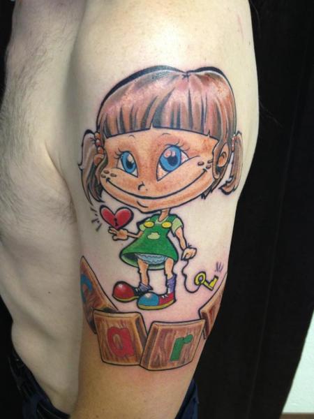 Tatuaje Brazo Fantasy Niños por Mia Tattoo