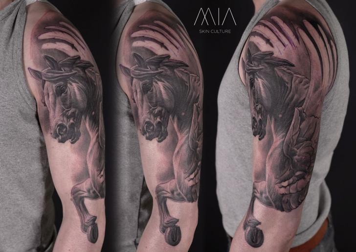 Arm Horse Pegasus Tattoo by Mia Tattoo