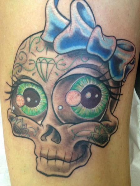 Fantasy Skull Tattoo by Mia Tattoo