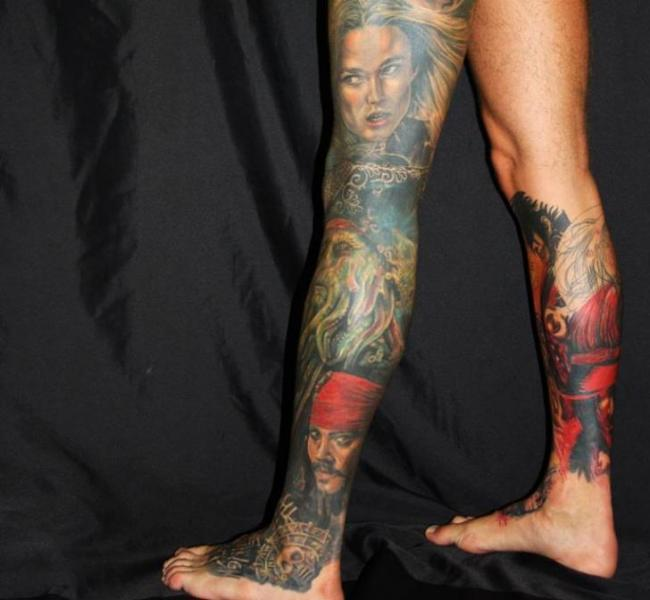 Fantasy Leg Tattoo by Mia Tattoo