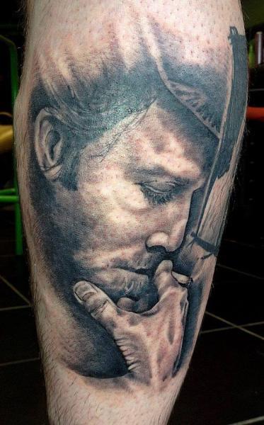Tatuaggio Ritratti Polpaccio di North Side Tattooz