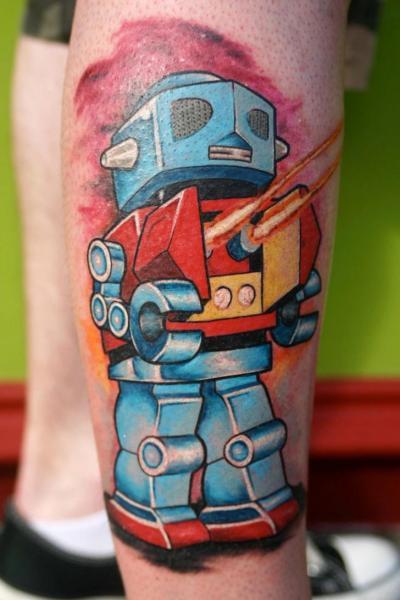 Calf Robot Tattoo by North Side Tattooz
