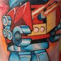 Calf Robot tattoo by North Side Tattooz