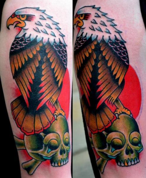 Old School Eagle Tattoo by North Side Tattooz