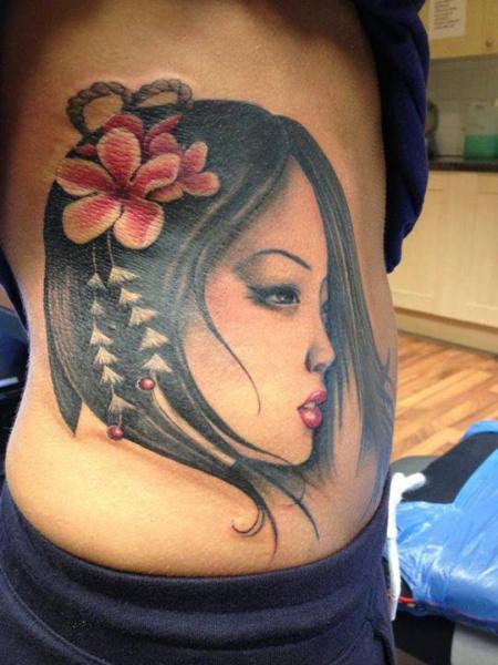 Side Geisha Tattoo by North Side Tattooz