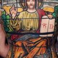 Back Religious tattoo by Mikael de Poissy