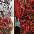 New School Blumen tattoo von Mikael de Poissy