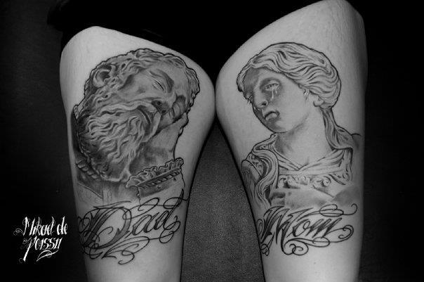 Oberschenkel Tattoo von Mikael de Poissy