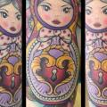 New School Matryoshka tattoo by Physical Graffiti