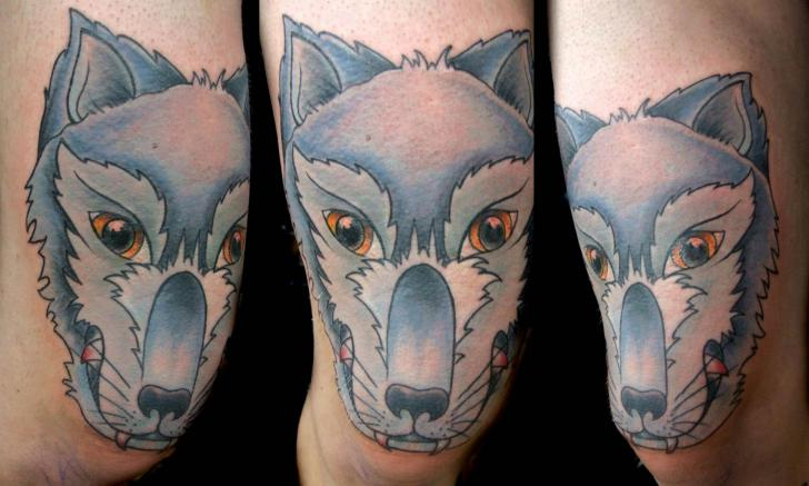 Fantasy Wolf Tattoo by Physical Graffiti