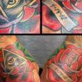 Old School Blumen Hand tattoo von Jim Sylvia