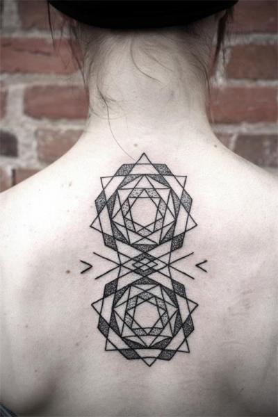 Back Dotwork Geometric Tattoo by Kris Davidson