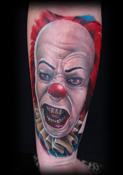 Arm Fantasy Clown Tattoo by Corpse Painter