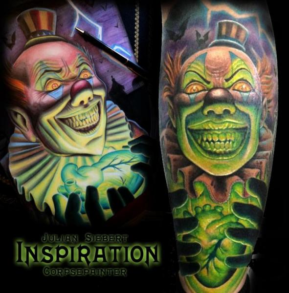 Fantasy Clown Tattoo by Corpse Painter