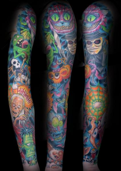 Fantasy Sleeve Tattoo by Corpse Painter