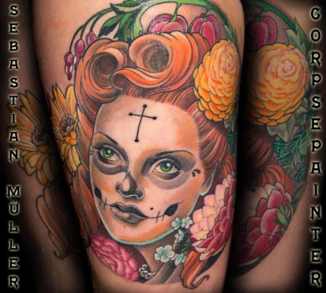 Tatuaggio Fantasy Donne di Corpse Painter