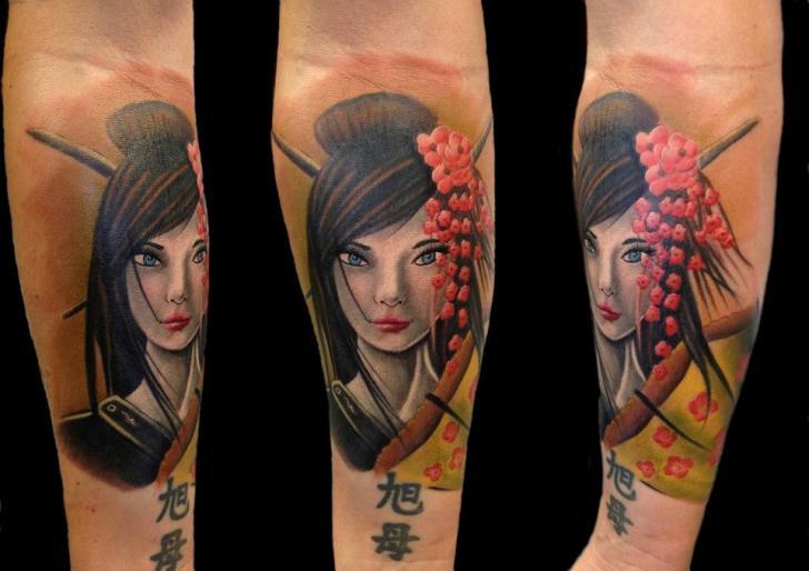 Tatuaje Brazo Japoneses Geisha Por Yakuza Tattoo