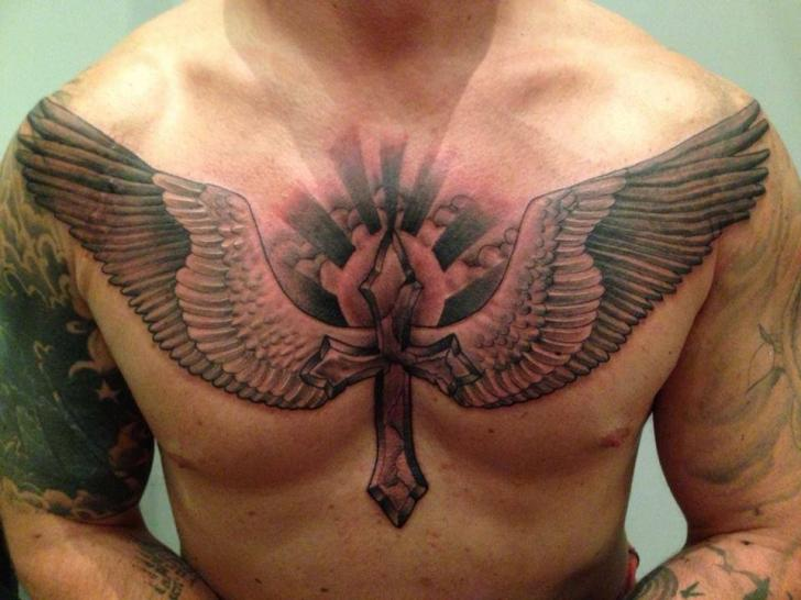 Chest Wings Crux Tattoo by Yakuza Tattoo