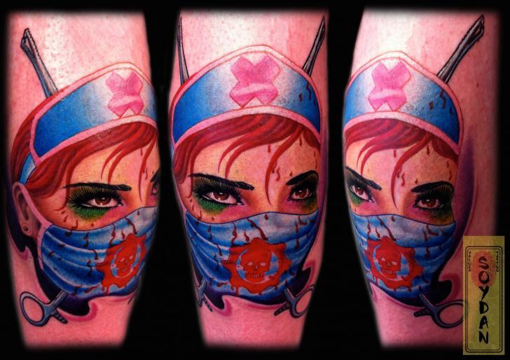 Fantasy Nurse Tattoo by Yakuza Tattoo