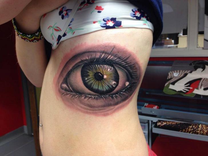 Realistic Side Eye Tattoo by Yakuza Tattoo