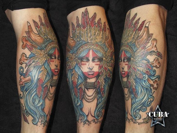 Arm Indian Tattoo by Cuba Tattoo