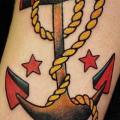Arm Old School Anchor tattoo by Cuba Tattoo