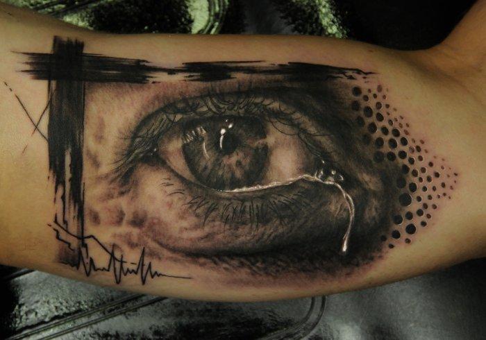 Arm Realistic Eye Tattoo by Vicious Circle Tattoo