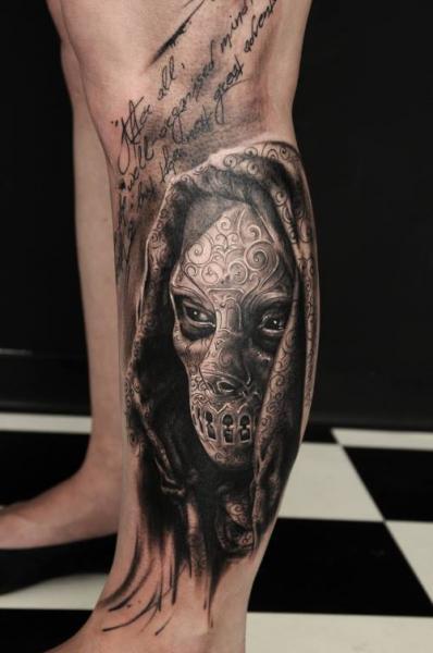 Fantasy Calf Tattoo by Vicious Circle Tattoo