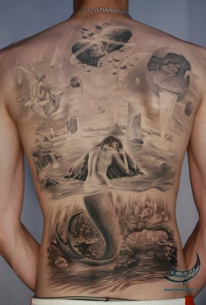 Fantasy Back Tattoo by Bloody Art