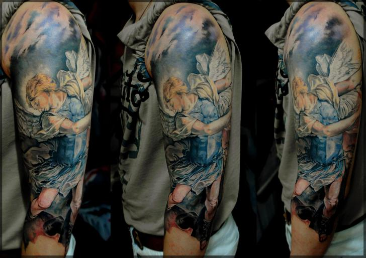 Arm Engel Religiös Tattoo von Pavel Roch