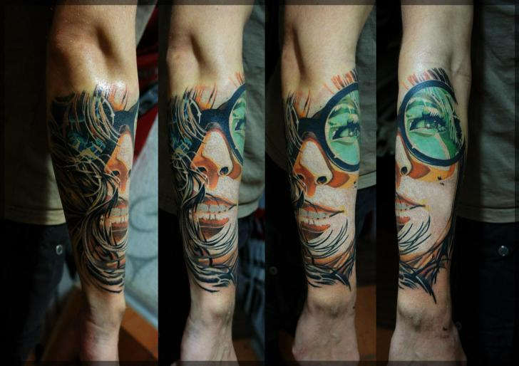 Arm Women Tattoo by Pavel Roch