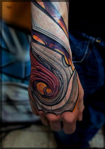 Fantasy Hand Tattoo by Pavel Roch