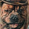 Shoulder Fantasy Dog tattoo by Pavel Roch