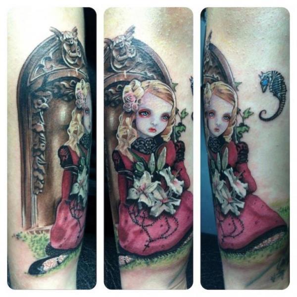 Arm Fantasy Children Tattoo by David Corden Tattoos